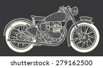 vintage motorcycle hand drawn... | Shutterstock .eps vector #279162500