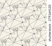 seamless deer line pattern tile ... | Shutterstock .eps vector #279164120