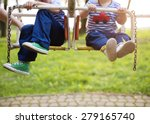 two cute little boys on an old... | Shutterstock . vector #279165740