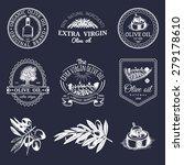 vector set of vintage olive...   Shutterstock .eps vector #279178610
