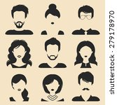 vector set of different male... | Shutterstock .eps vector #279178970