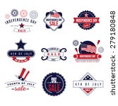 4th of july sale icons eps 10... | Shutterstock .eps vector #279180848