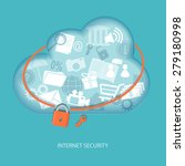 cloud computing concept... | Shutterstock .eps vector #279180998