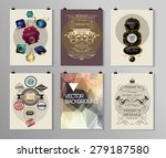 set of poster  flyer  brochure... | Shutterstock .eps vector #279187580