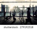 business travel commuter... | Shutterstock . vector #279192518