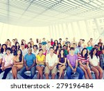 group people crowd audience... | Shutterstock . vector #279196484