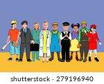 children kids dream jobs... | Shutterstock . vector #279196940