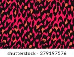 pink and orange leopard fur... | Shutterstock . vector #279197576