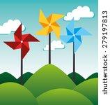 energy design over landscape... | Shutterstock .eps vector #279197813