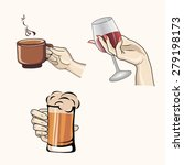 drinks hold by hands image... | Shutterstock .eps vector #279198173