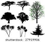 trees   vector set | Shutterstock .eps vector #27919906
