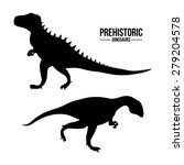 prehistoric design over white... | Shutterstock .eps vector #279204578
