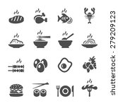 food icon set  vector eps10. | Shutterstock .eps vector #279209123