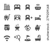 hotel service icon set 10 ... | Shutterstock .eps vector #279209168