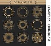 set of vintage sunburst.... | Shutterstock .eps vector #279209864