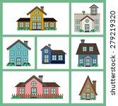 real estate design over white... | Shutterstock .eps vector #279219320