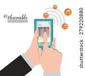 wearable technology design over ... | Shutterstock .eps vector #279220880