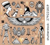 set of vector isolated egypt... | Shutterstock .eps vector #279221819