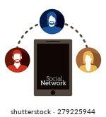 social network design over... | Shutterstock .eps vector #279225944