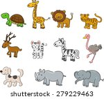 collection of animals | Shutterstock . vector #279229463