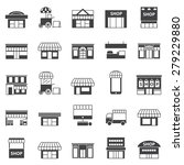 store and building  icon set  | Shutterstock .eps vector #279229880