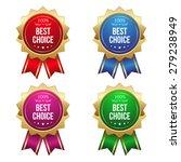 gold best choice badges on... | Shutterstock .eps vector #279238949