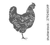 typographic chicken butcher... | Shutterstock .eps vector #279240149
