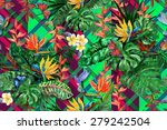 Exotic Plants Seamless Pattern...