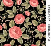 seamless floral pattern with... | Shutterstock .eps vector #279245696
