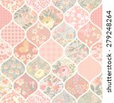 seamless patchwork pattern with ... | Shutterstock .eps vector #279248264
