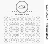 weather line icons with circle... | Shutterstock .eps vector #279248996