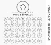 food and beverage outline icons ... | Shutterstock .eps vector #279249014