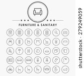 furniture and sanitary line... | Shutterstock .eps vector #279249059