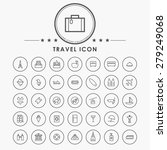 travel and vacation line icons... | Shutterstock .eps vector #279249068