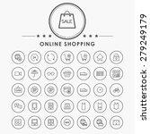 online shopping minimal line... | Shutterstock .eps vector #279249179