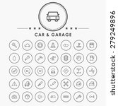 car and garage outline icon... | Shutterstock .eps vector #279249896