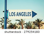 los angeles road sign.... | Shutterstock . vector #279254183
