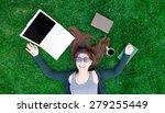portrait of a beautiful... | Shutterstock . vector #279255449