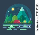 night landscape in the... | Shutterstock .eps vector #279255593