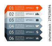 vector arrows infographic.... | Shutterstock .eps vector #279258596