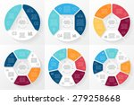 vector circle infographic.... | Shutterstock .eps vector #279258668