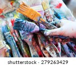 paint cans color palette.... | Shutterstock . vector #279263429