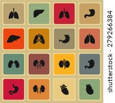 organ icons | Shutterstock .eps vector #279266384