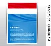 luxembourg flag brochure  ... | Shutterstock .eps vector #279267158