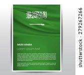 saudi arabia flag brochure  ... | Shutterstock .eps vector #279267266
