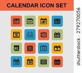 calendar icons | Shutterstock .eps vector #279270056