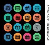 calendar icons | Shutterstock .eps vector #279270179