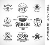 sausage vintage typography... | Shutterstock .eps vector #279274568