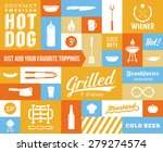 hot dog vector icon and... | Shutterstock .eps vector #279274574