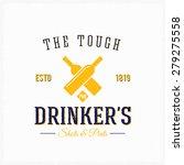drinker pub bottles abstract... | Shutterstock .eps vector #279275558